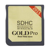3ds games - 2015 SDHC Gold Pro flashcard cartridge RTS Game card cart for DS DS DSi LL XL NDSL NDS DHL FEDEX