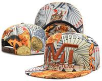 Wholesale 2015 New arrived Cheap Men Stripe tmt snapback Cap flat brimmed hat the moneyteam flag baseball cap hiphop hat
