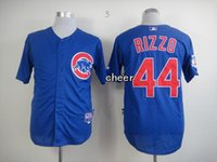 Wholesale 2015 Newest Men s Chicago Cubs Anthony Rizzo Blue Baseball Jerseys