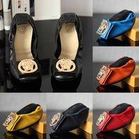 Wholesale fashion woman vogue shoes women Pregnant women ballet flat shoes toe high quality genuine leather big size plus size