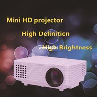Wholesale 800 Portable Mini HD LED Projector Lumens Support RED BLUE D Moive Multimedia Home Projector Factory Direct Sale