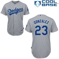 Wholesale 2015 Los Angeles Dodgers Adrian Gonzalez New Grey Baseball Jersey Personalized Customized Jerseys