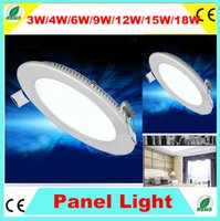 Wholesale 9W W W W Round LED Panel Light Energy Saving Brigeaht LED Recessed Panel Downlight Warm White Cool White
