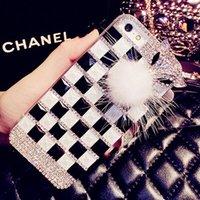 Precio de Iphone bling la rosa-Piel Iphone 5 5s Fox cristal de Bling del brillo del diamante 5 5s de la piel cubierta de la caja rosada Negro Nueva marca de lujo