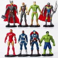 achat en gros de accessoires avengers-8pcs / set The Avengers 2 Age of Ultron Ultron Iron Man Nick Fury Hulk Captain America jouets figurines