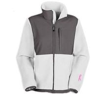 active ribbon - Classic Pink Ribbon Women s Fleece Jackets Sport Outdoor Winter warm Mountaineering Sportswear Balck white outwear