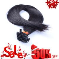 Cheap pre bonded flat tip hair Best remy human hair