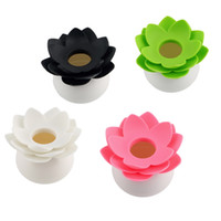 Wholesale New Lotus Flower Cotton swab box cotton bud holder base room decorate Lotus Toothpicks holder Toothpick case