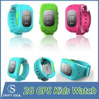 Wholesale GPS smart watches kids track watch phone call wristwatches Satellite monitoring Double Locate Remote Monitor SOS children Aged use HOT