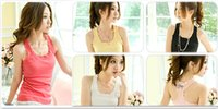 Wholesale Hot sell Cotton Slim Spaghetti Strap Top lace Shirt Women s Vest Cotton Top Tank Camisole A4891