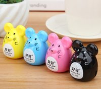 Wholesale Rat pencil sharpener Cute mouse cutting pen Pencil sharpener Cut a knife pencil shavings