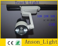 Wholesale DHL shipping COB LED Track Light W W W Beam Angle cool white Led track Spot light for shopping centre