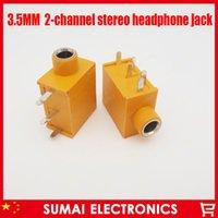 Wholesale New MM channel strero Audio socket Headphone socket For desktop PC headset jack radio ect yellow