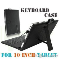 Wholesale DHL Brand New USB Interface Keyboard Leather Case Cover Skin For quot inch Inch ePad Tablet PC JP10