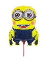 aluminium cups - 2014 new double eyes despicable me Minions balloons with stick and cup for party decoration aluminium foil baloons