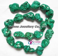 turquoise nugget beads - YA0267 Natural Turquoise Nuggets Beads Loose Beads mm mm