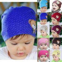bear beanie baby - Hot Sales Newborn Baby Kids Children Warm Hat Crochet Cute Bear Cotton Beanie Hats Caps fx305
