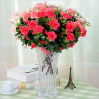 azalea colors - Small Artificial flowers Azalea wreath party decoration real touch roses colors rose balls weddings wreath