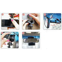 Wholesale 360 Rotation Rearview Car Mirror Bracket Holder For Dash Camera G1W G1W LS300W On Sale