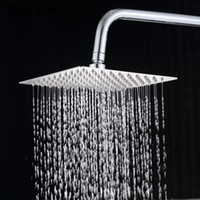 bathroom shower - Stainless Steel Polished Finish Square Rainfall Shower Head Bathroom Faucet