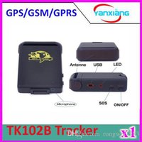 Cheap CHPost 1pcs TK102B GPRS GPS Mini Car Vehicle Tracker Global Real Time 4 bands Tracking Device ZY-DH-05