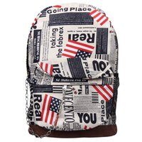 best newspapers - Best Deal New Fashion Casual PC Unisex Oxford Cloth Newspaper Zipper Backpack School Bag Double Shoulder Bag Gift pc