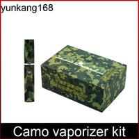 Cheap 2015 Hottet wax vaporizer kit flat e cigar epipe camo vaporizer pen wax burner electronic cigarette kit DHL free shipping
