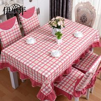Wholesale Home textile European rectangular round cotton table mat chair set cover sets manteles para mesa nappe Toalha