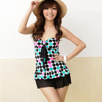 belly tube - special Korean tube top fund conservative Show thin cover belly full skirt fission swimming suit woman Swimwear