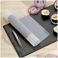 Wholesale Big Size Silicone Sushi Maker Food Grade Non stick Anti microbial Sushi Making Tool Roller Shutters Molds
