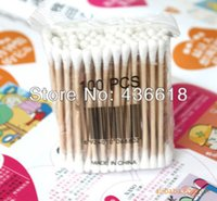 Wholesale packs per pack double head cotton swab Soft and Hygienic cosmetic cotton bud medical swab