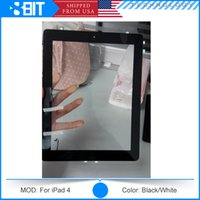 Wholesale Original Parts For iPad Touch Screen Digitizer Full Assembly With Home Button Adhesive Black White Free DHL Shipping