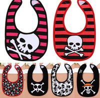 Wholesale 8 style Baby Gifts Baby Boys Girl Bibs Infant Skull Burping Cloths Kids Bib Baby Burp Cloths Childrens Baby Bib Newborn Baby Clothes