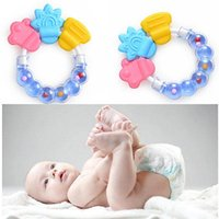 Wholesale Toddler Infant Baby Rattles Teether Biting Toy Molar Rod Handbell Jingle