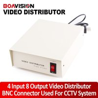 Guangdong China (mainland) video distributor - 4 Input Output CCTV Video Distributor Video Signal Distributor with BNC Connector