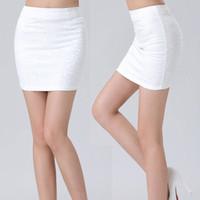 Wholesale Sexy Mini Skirt Tube - Wholesale-Summer Mini Lace Black and White Pencil Skirt Sexy Women Stretch Tight Bodycon Tube Bandage H2125