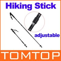 """Cheap Adjustable AntiShock Trekking Hiking Walking Stick Pole 66cm-135cm 26 """" to 53 """" with Compass H8307 Freeshipping Dropshipping"""