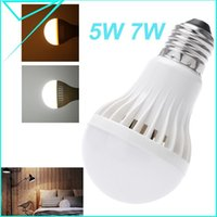 auto lampe - 5730 SMD LED Bulbs E27 W W Sound Light Sensor Auto Detection LED Light Plastic Lamp Bulb Lampe AC85 V