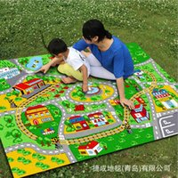 american car games - Child Green color lane game carpet environmental protection non slip nylon bedroom rug Dust Toy car track carpet MMX1900MM