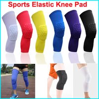 baseball knee pads - 2016 Leg Sleeve breathable Knee Pad Protection Sports Care Gym basketball baseball Support Knee Pad sock Elastic honeycomb kneepad Protectiv