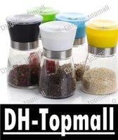 Wholesale High Quality Best selling Glass Pepper set Salt Herb Spice Hand Grinder Mill manual pepper mill David