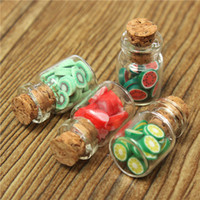 Wholesale 2015 New Set Dollhouse Miniature Accessories DIY Various Fruit Bottles Canned Send By Random Top Grade