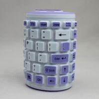 Wholesale-107 llaves plegables impermeable inalámbrica flexible de silicona suave 2.4G del bluetooth del teclado para la tableta PC 5638
