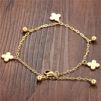 anklets suppliers - supply supplier titanium steel Clover anklet fashion anklet fade gift GZ009
