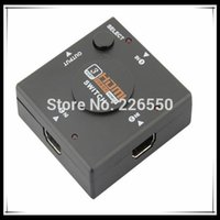 best selling hdtv - 200pcs best selling mini Port HDMI Switch Switcher HDMI Splitter HDMI Port for HDTV P Video drop shipping
