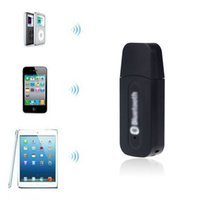 Wholesale 2015 Hot Sales New USB Bluetooth Music Receiver Adapter mm Stereo Audio For iPhone