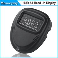 Wholesale Universal car HUD GPS A1 Head Up Display vehicle alarm security system Speedometer KMH MPH Overspeed For All Vehicle volvo