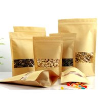 bags from china - 16x26cm pack Zip Lock Top Kraft Packaging Bags For Snack buy direct from china
