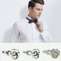 Wholesale Mens silver cufflinks kind of knot Cuff links for French shirt Cuff nail sets