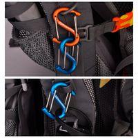 Wholesale NatureHike Multicolor cm S shaped Aluminum alloy Cheap Climb Hook Carabiners